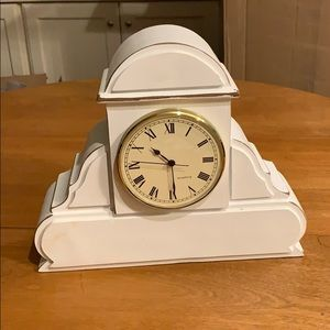 NWT White Bezel Gold Rimmed Clock
